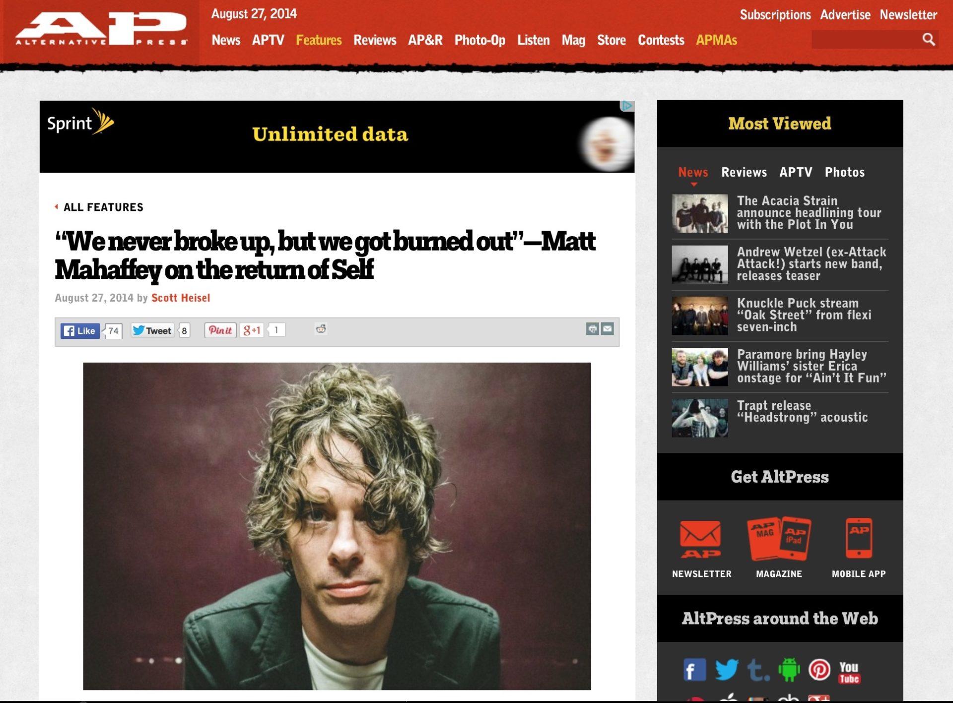 Matt Mahaffey / sElf - AP Magazine. Photo by Clay Lancaster.